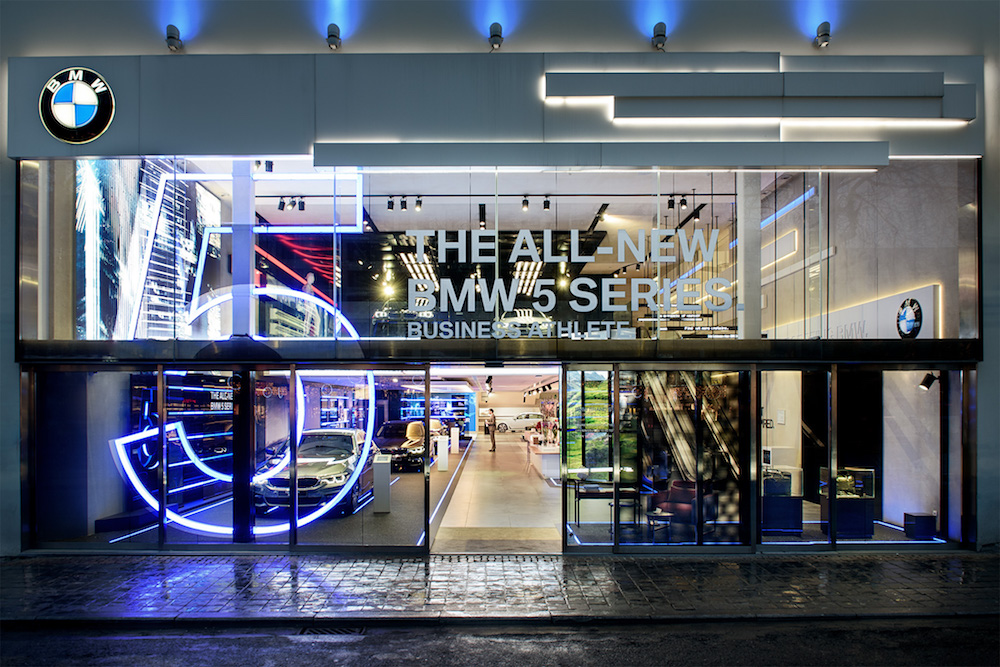 event location bmw brand store in brussels next 5 by bmw. Black Bedroom Furniture Sets. Home Design Ideas